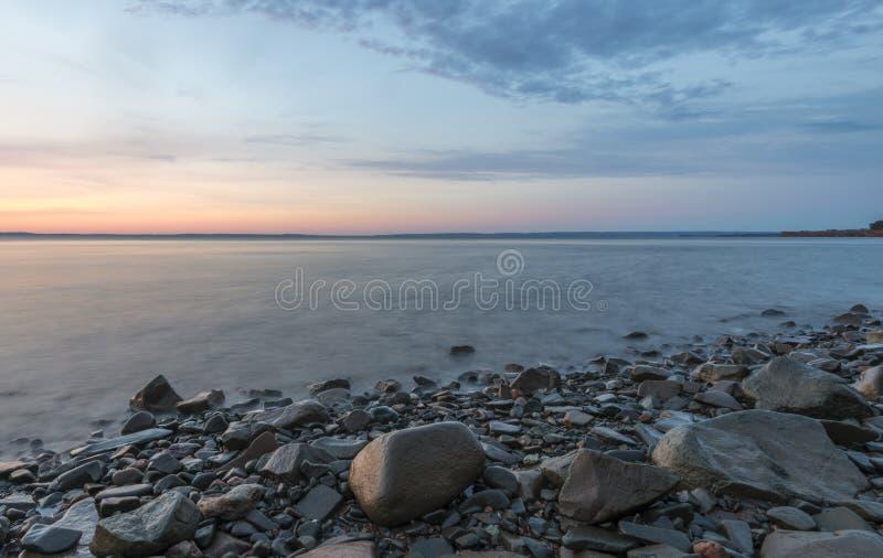 Shoreline At Sunrise Royalty Free Stock Photography