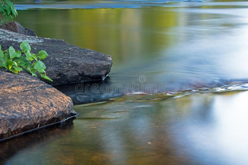 Shoreline vaggar på den Mississauga floden royaltyfria bilder