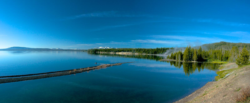 Yellowstone Lake Shoreline Stock Image