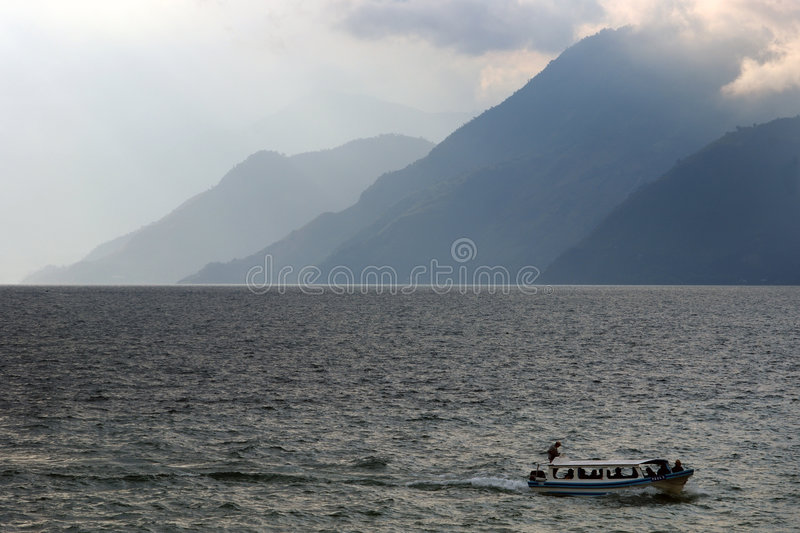 Shores of the Lake Atitlan stock images
