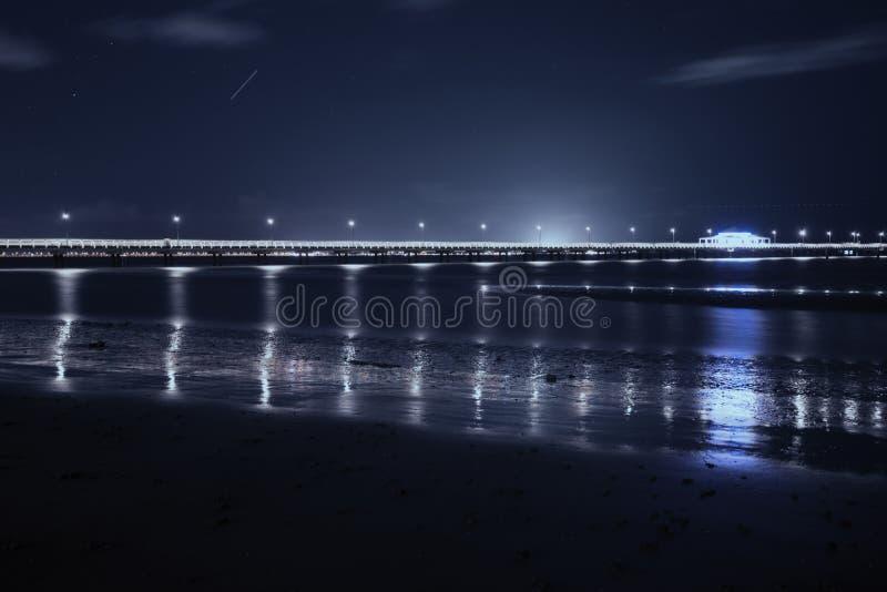 Shorncliffepijler in de avond stock afbeeldingen