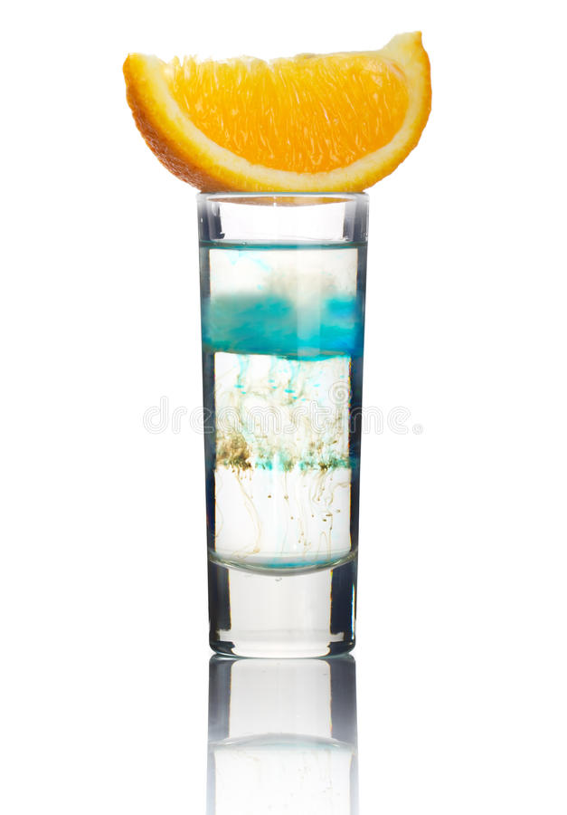 Short Alcohol Cocktail With Orange Slice Isolated Royalty Free Stock Images