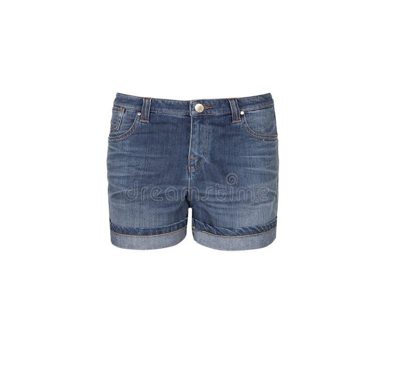Short de Jean - calças de brim das mulheres imagem de stock