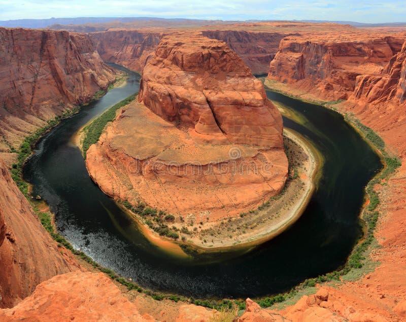 Horseshoe Bend of the Colorado River near Page, Arizona, USA royalty free stock photography