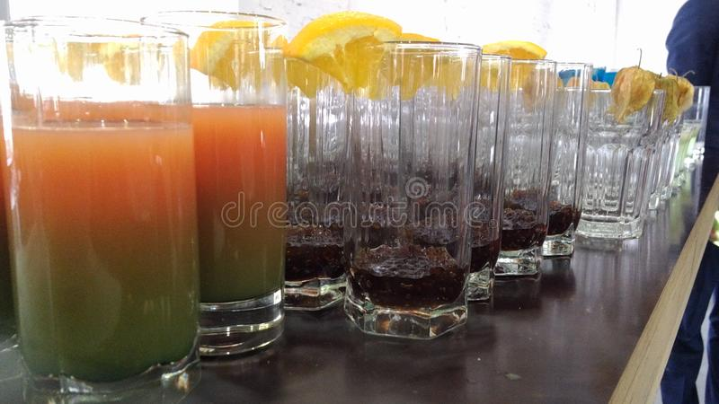 Short drinks royalty free stock images