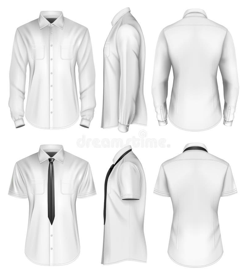 Short du ` s d'hommes et longue chemise gainée illustration stock