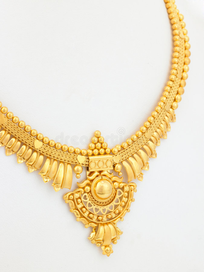 Short gold necklace stock image. Image of object, jewel - 8350633