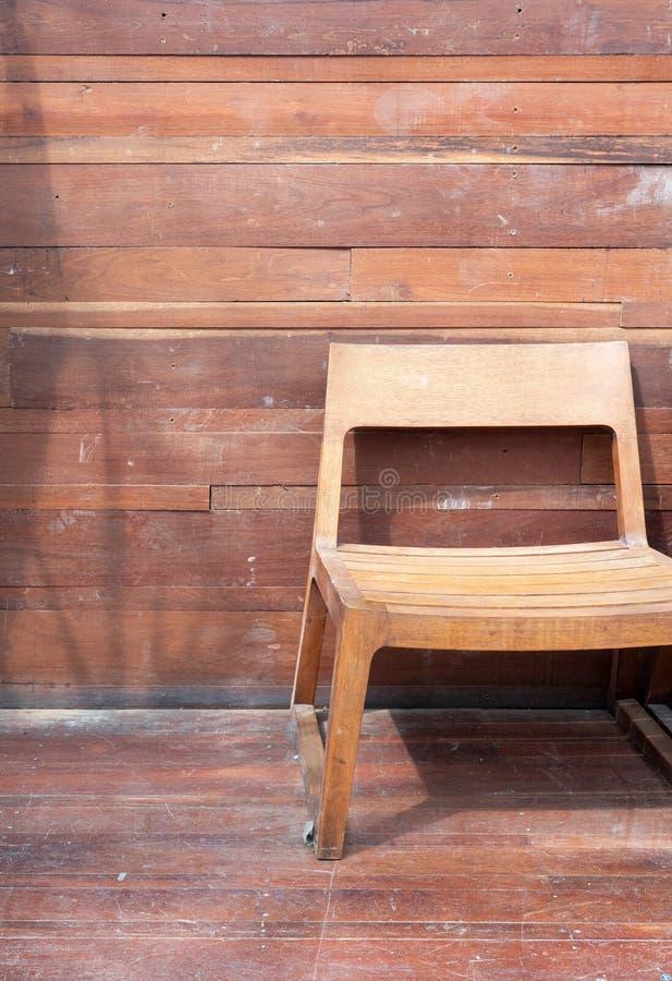 Short leg wooden chair. royalty free stock image