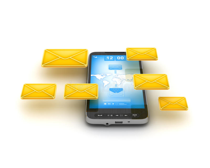 Short Message Service (SMS) & Mobile internet vector illustration