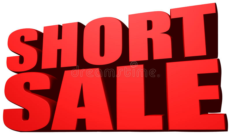 Short sale vector illustration