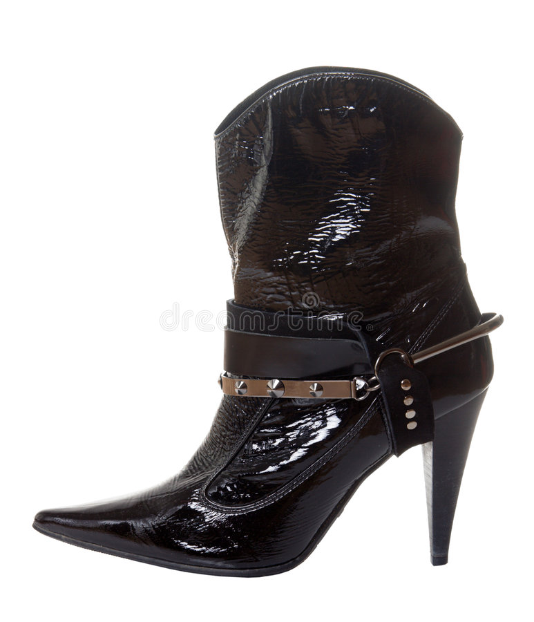 Download Short shine boot for women stock photo. Image of fashionable - 4397430