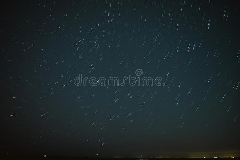 Short Star Trail stock photography