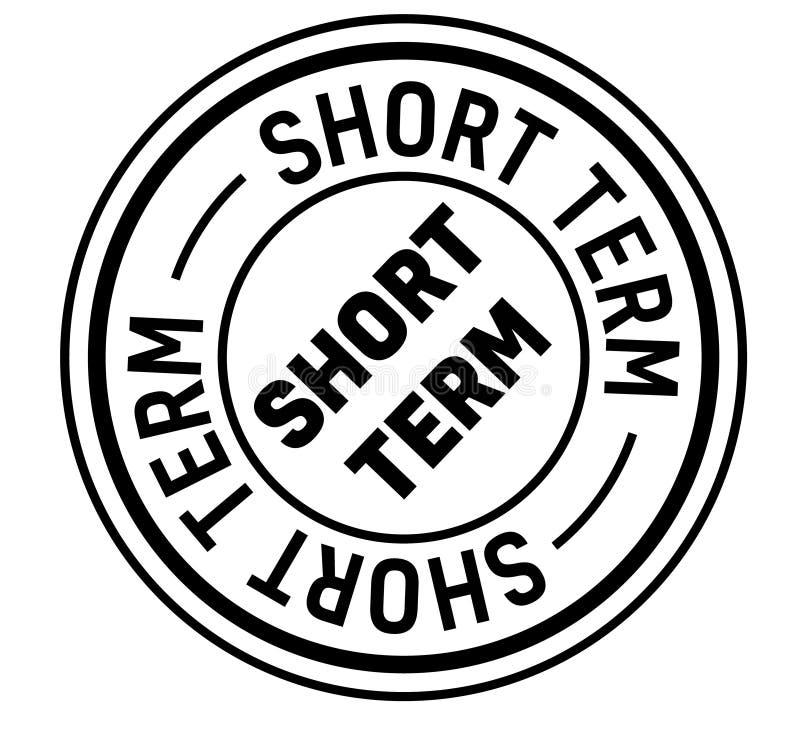 Short term stamp on white stock illustration