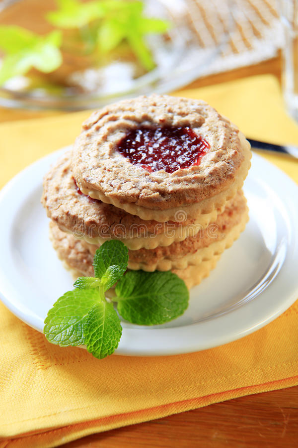 Download Shortbread biscuits stock photo. Image of sweet, closeup - 21793132