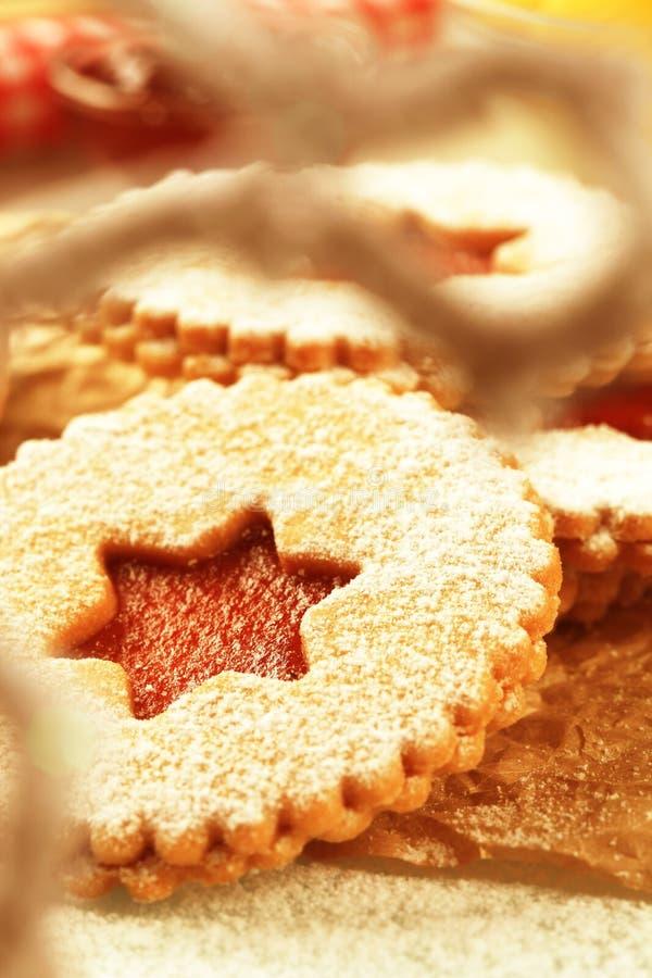 Shortbread cookies stock image