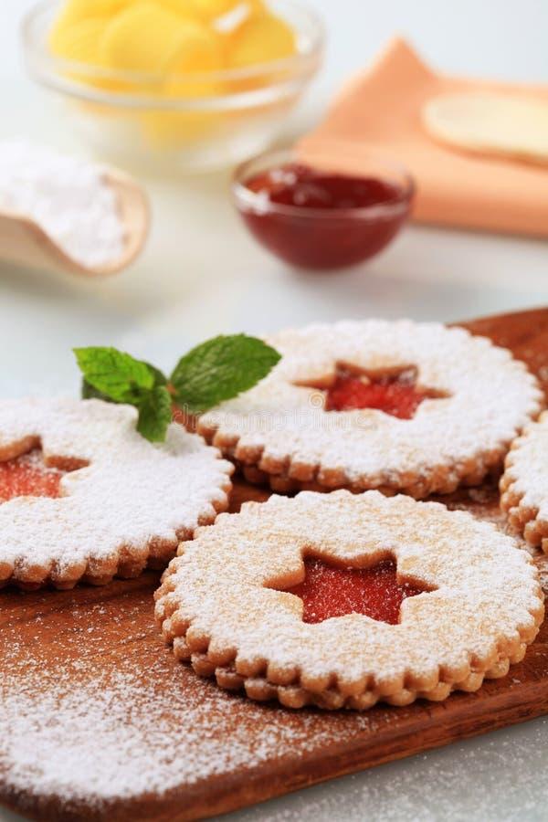 Shortbread cookies royalty free stock image