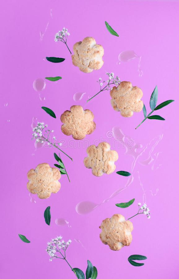 Gravity cookies with honey stock images