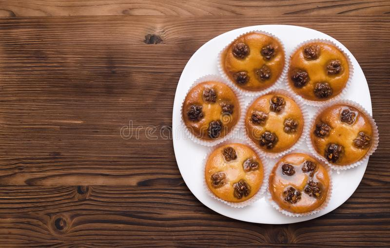 Cake pie with walnuts royalty free stock images
