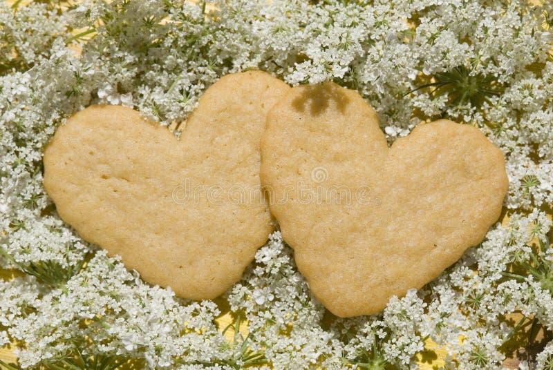 Shortbread delicious heart-shaped royalty free stock photos