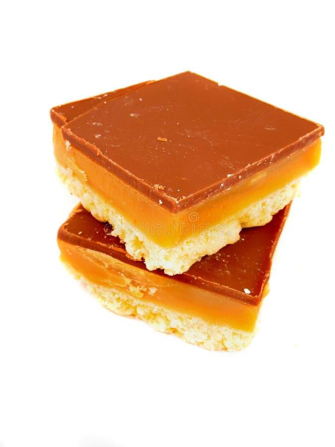 Shortbread do caramelo imagem de stock