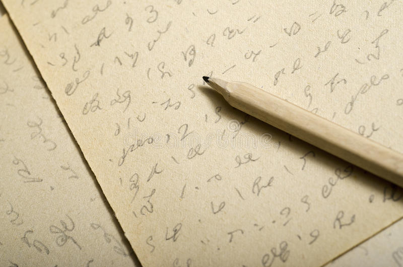 Download Shorthand stock image. Image of abbreviated, handwritten - 27587725