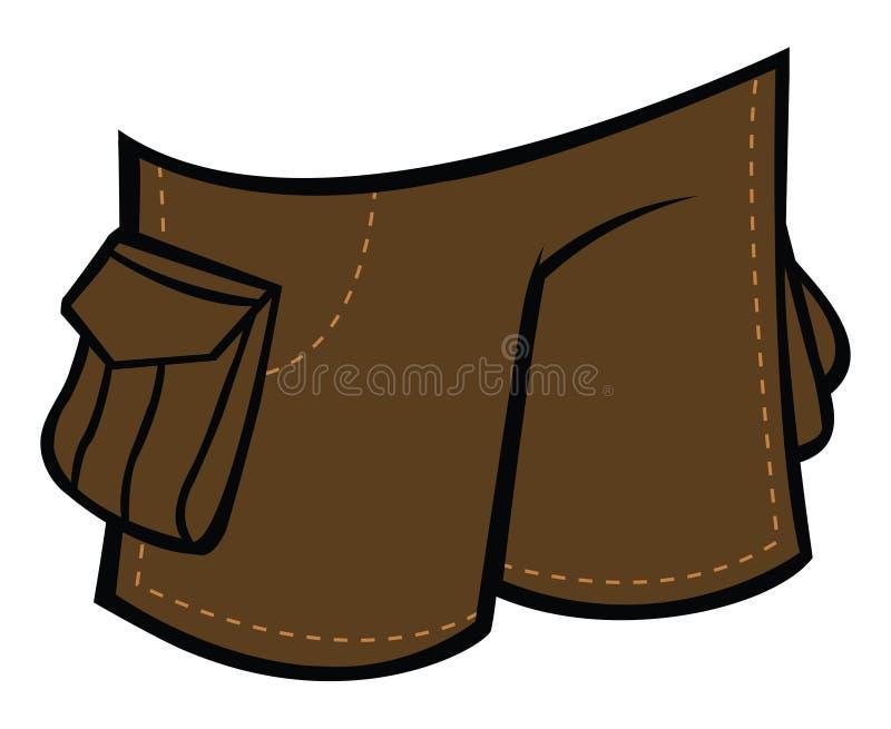 Shorts ilustração stock
