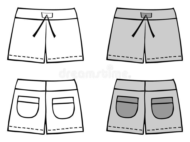 Shorts ilustração do vetor