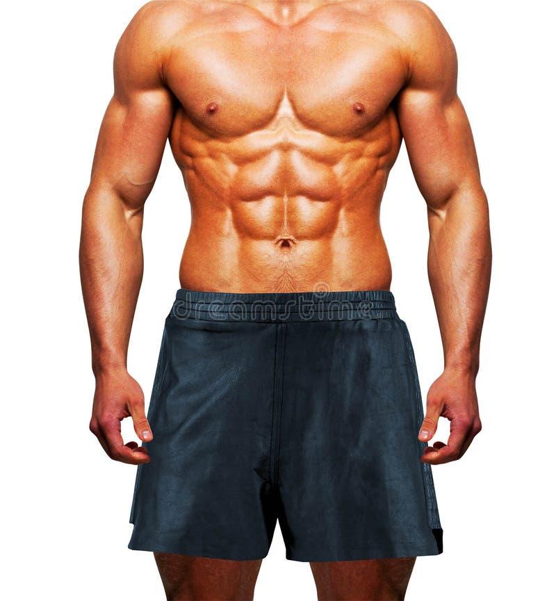 Shorts d'uso dell'uomo su bianco immagine stock libera da diritti