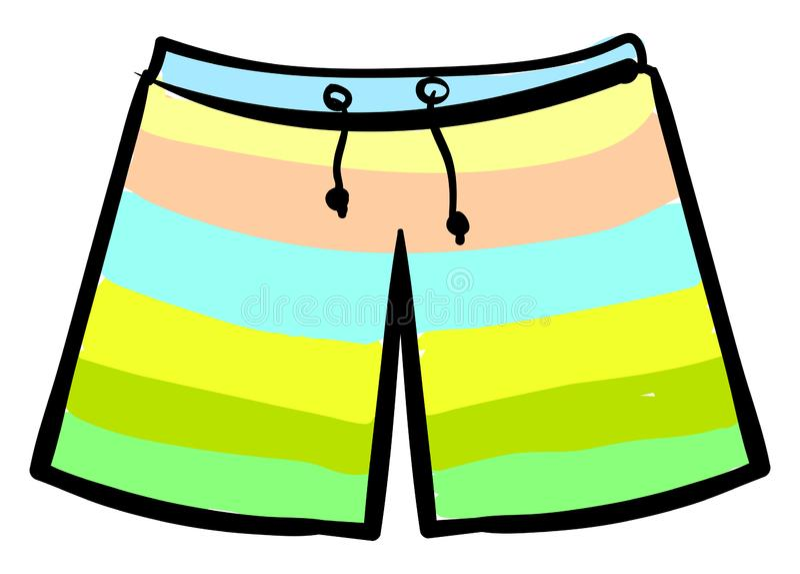 shorts de bain, illustration, vecteur illustration stock