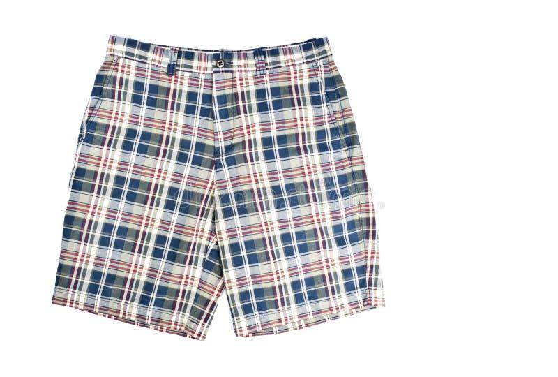 Shorts del plaid dell'uomo fotografia stock