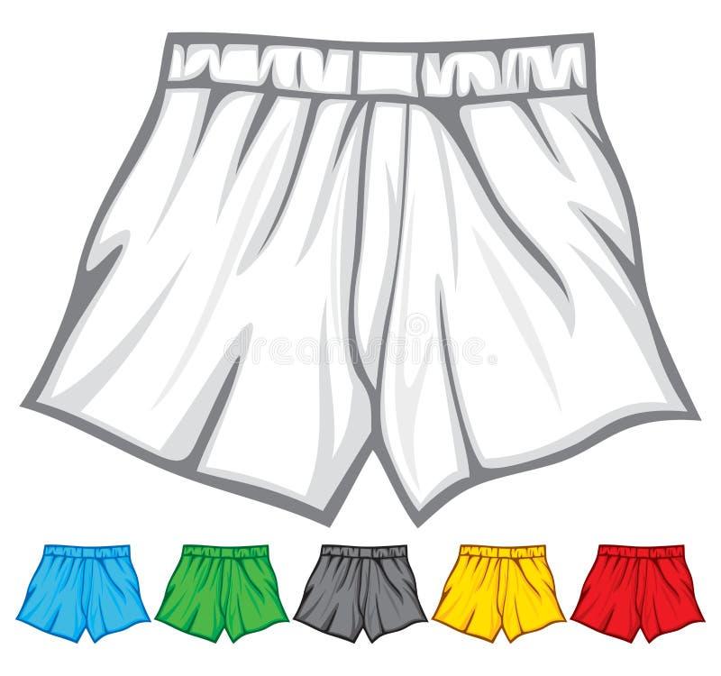 O pugilista shorts a coleção ilustração stock