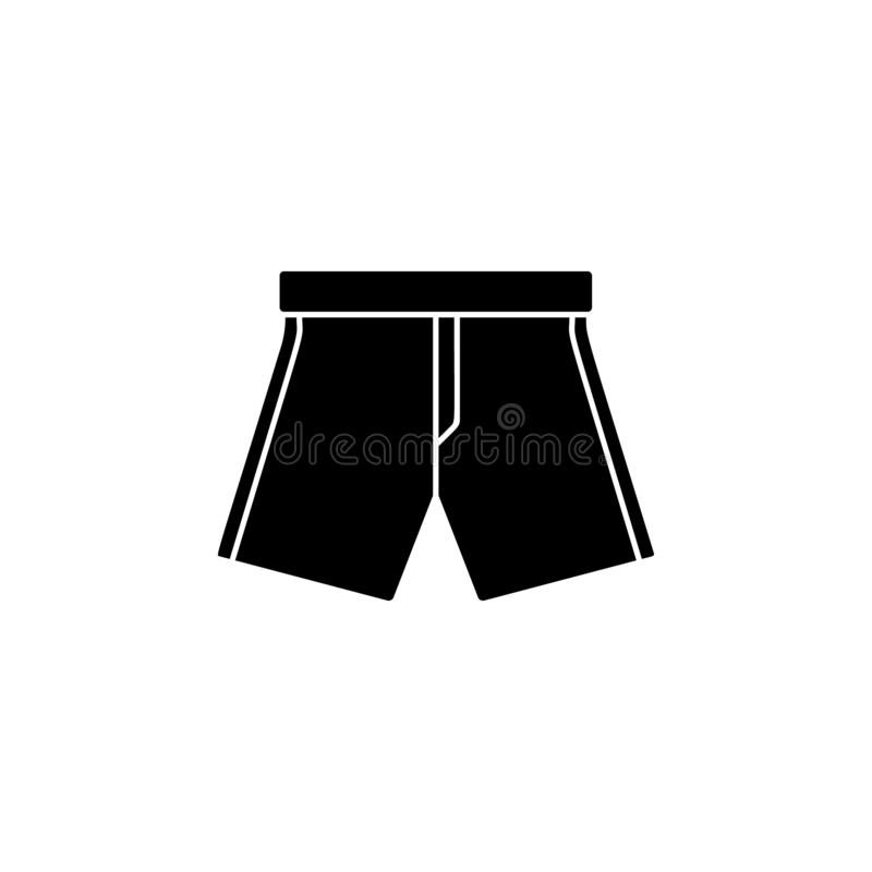 Shorts icon. Simple glyph vector of universal set icons for UI and UX, website or mobile application. On white background vector illustration