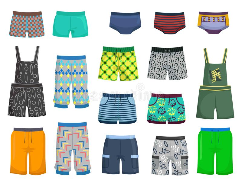 Shorts and panties stock illustration