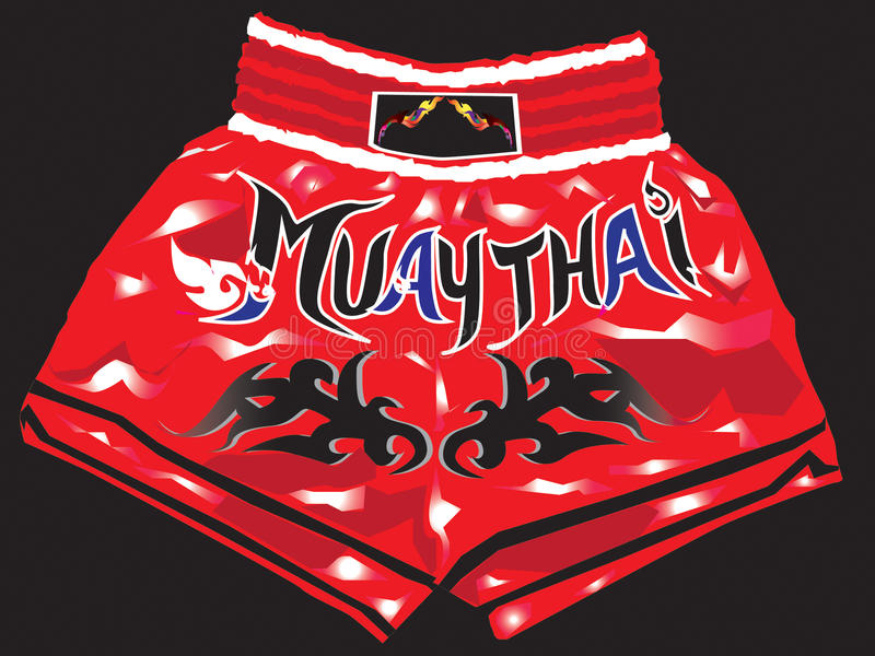 Download Shorts Red Thaiboxing Royalty Free Stock Photos - Image: 27726328