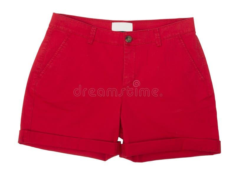 Shorts rossi fotografie stock