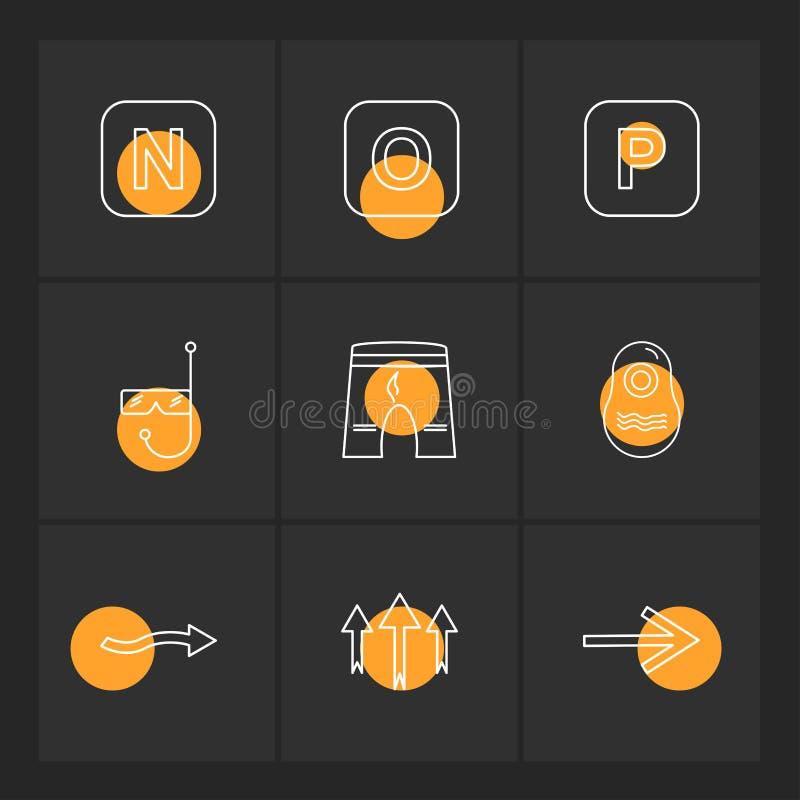 shorts , swimming pool , alphabets , sea , food , picnic , summer , eps icons set vector royalty free illustration