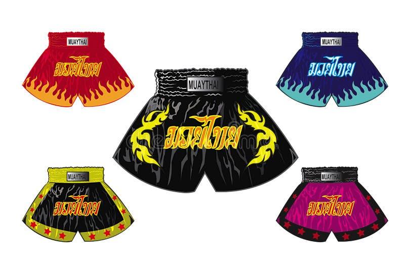 Shorts thaïlandais de boxeur illustration de vecteur