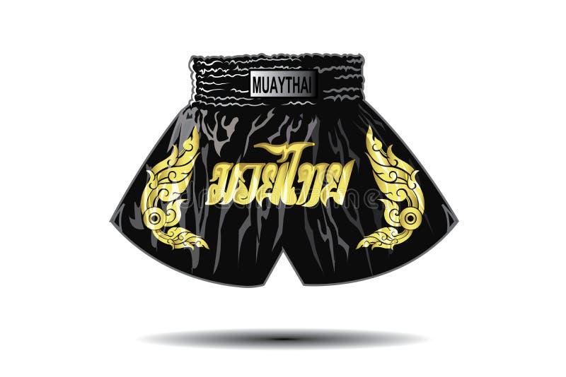 Shorts thaïlandais de boxeur illustration stock