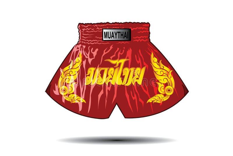 Shorts thaïlandais de boxeur illustration libre de droits