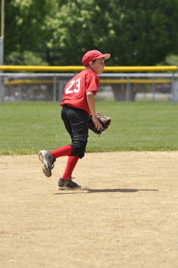 Shortstop der kleinen Liga stockfoto