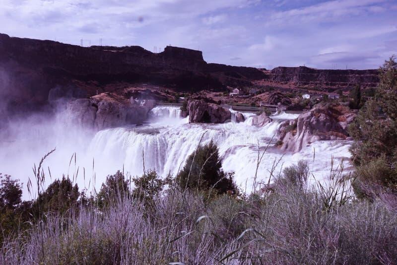 Shoshone Falls - Idaho. At 212 feet in height, Idaho`s Shoshone Falls of the Snake River is taller than Niagara stock images