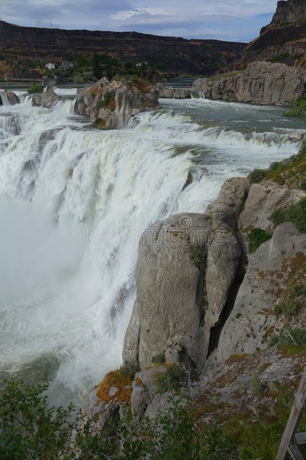 Shoshone Falls - Idaho. At 212 feet in height, Idaho`s Shoshone Falls of the Snake River is taller than Niagara royalty free stock image
