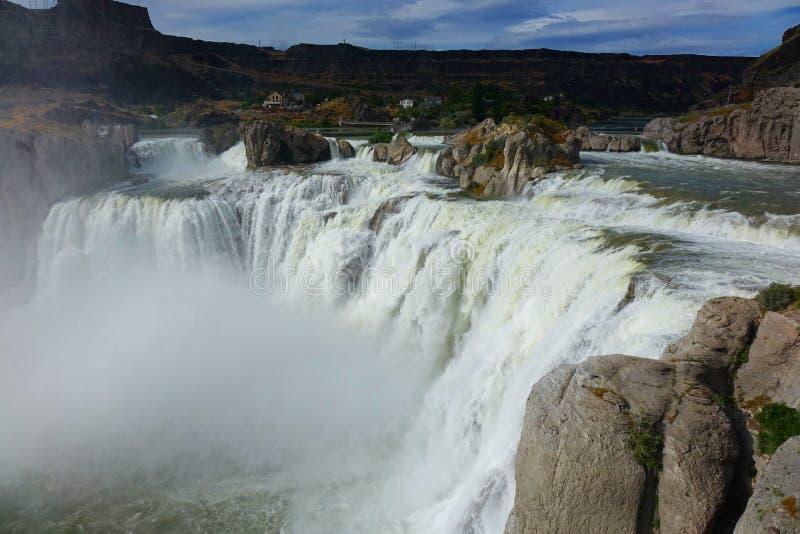 Shoshone Falls - Idaho. At 212 feet in height, Idaho`s Shoshone Falls of the Snake River is taller than Niagara royalty free stock photo