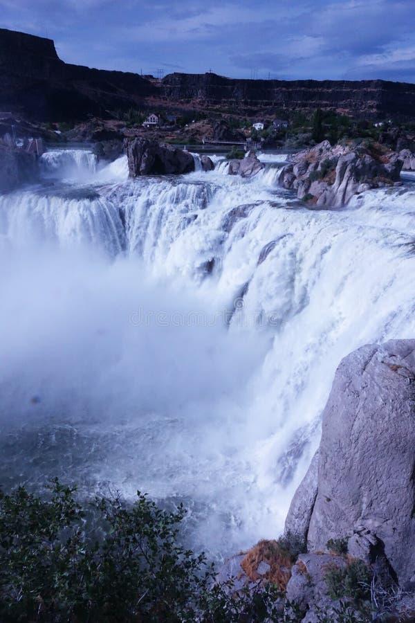 Shoshone Falls - Idaho. At 212 feet in height, Idaho`s Shoshone Falls of the Snake River is taller than Niagara stock photo