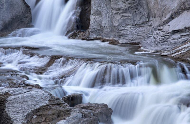 Shoshone Spada Bliźniaczy spadki, Idaho obraz stock