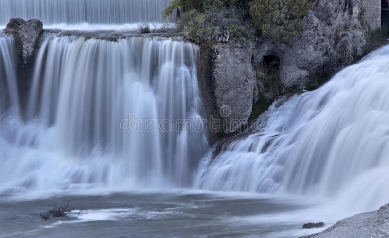 Shoshone Spada Bliźniaczy spadki, Idaho zdjęcie royalty free