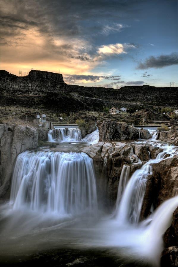 Shoshone Spada Bliźniaczy spadki, Idaho obrazy royalty free