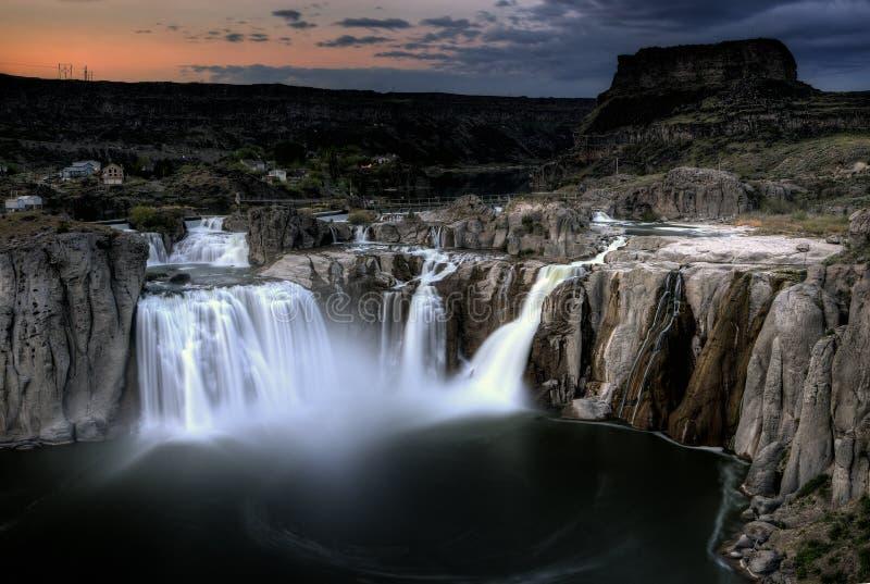 Shoshone valt Tweelingdalingen, Idaho royalty-vrije stock foto