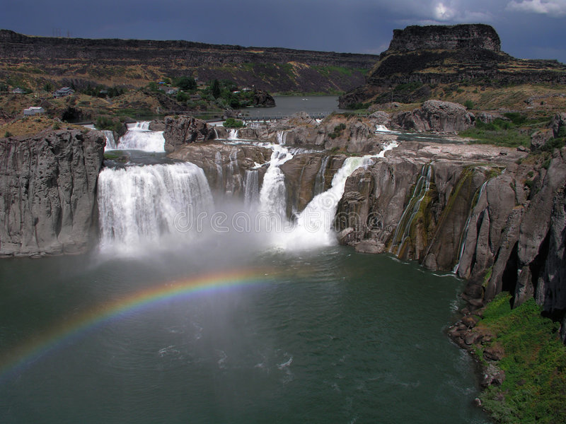 shoshone waterval Idaho stock fotografie