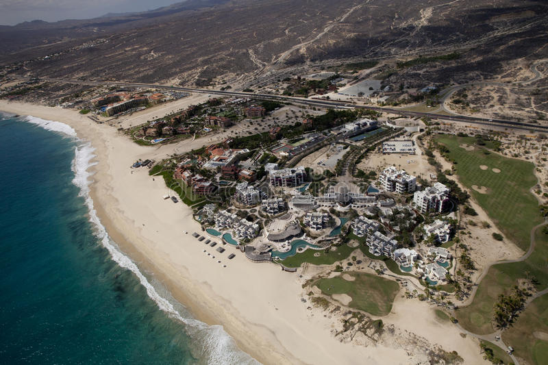 Shot from the air in los cabos. Los cabos in baja califonia sur, mexico, shot from the air in a light aircraft stock images